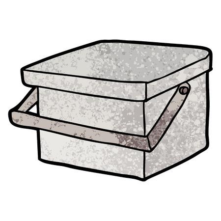 흰색 배경에 손잡이 일러스트와 함께 만화 욕조입니다. 일러스트
