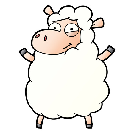 cartoon sheep illustration design Stock Illustratie