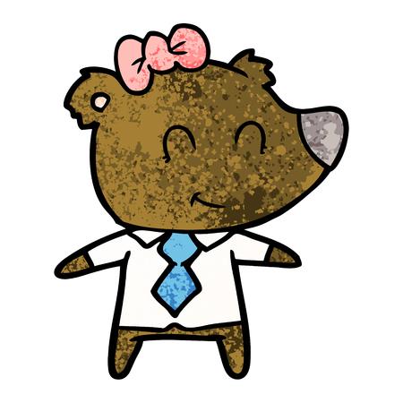 Ours femelle en vêtements de travail Banque d'images - 95813323