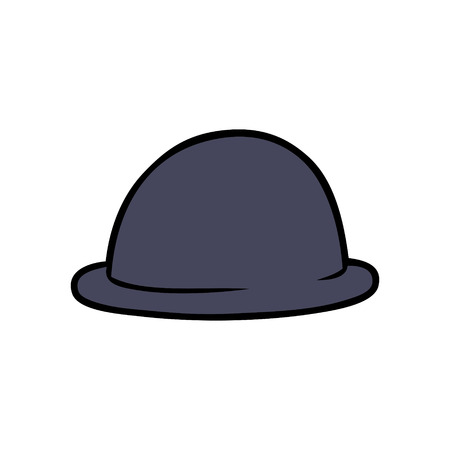 Cartoon bowler hat illustration