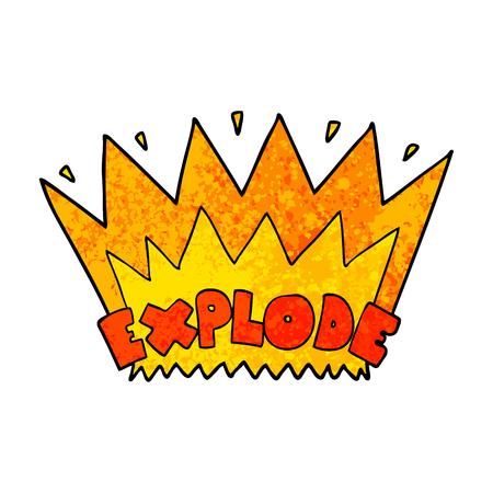 Cartoon explosion illustration Ilustração