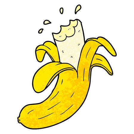 Cartoon bitten banana Illustration