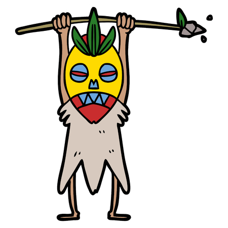 Cartoon cannibal shaman