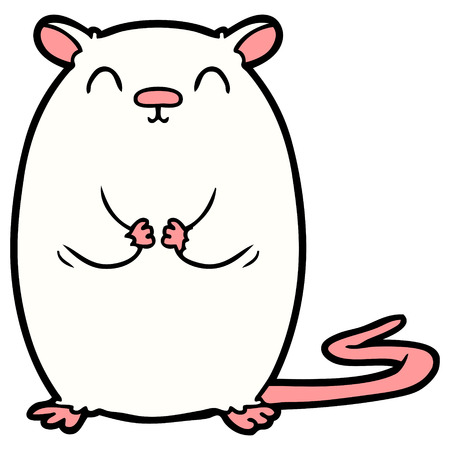 Cartoon happy mouse