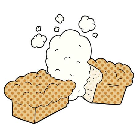 freshly baked bread cartoon