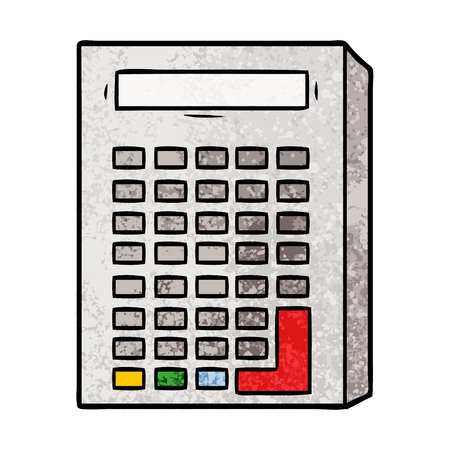 cartoon calculator illustration design 向量圖像