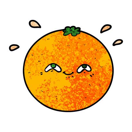 cartoon orange illustration design
