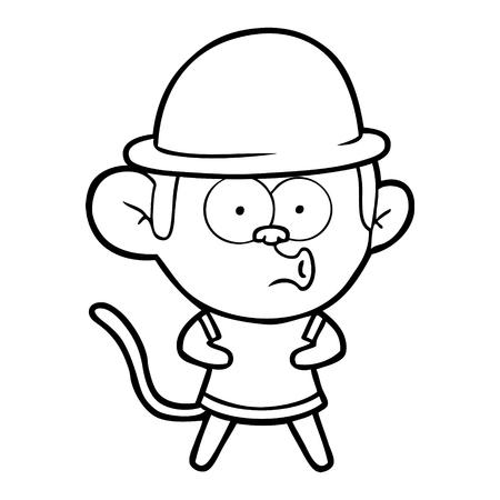 漫画は猿を驚かせた  イラスト・ベクター素材