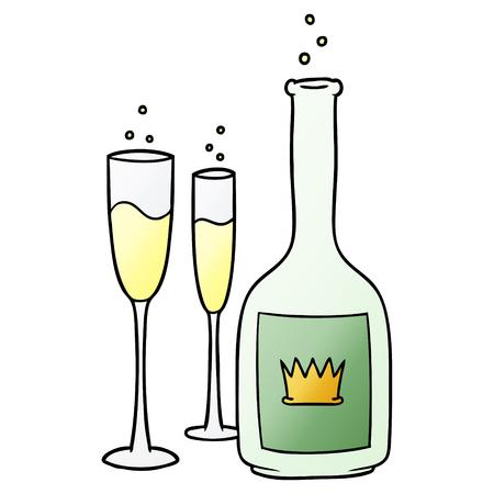 Cartoon Champagner Standard-Bild - 95823268