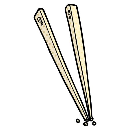 cartoon chopsticks Ilustração