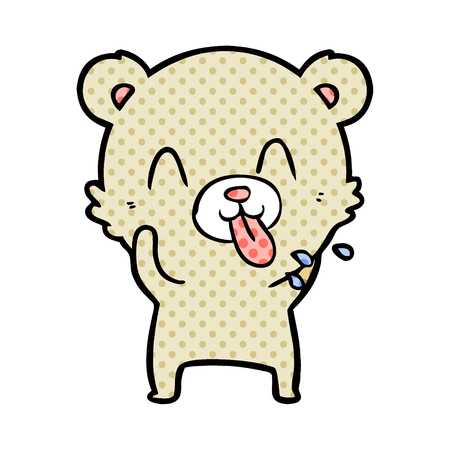 bear cartoon chraracter  イラスト・ベクター素材