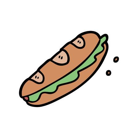 漫画サンドイッチ  イラスト・ベクター素材