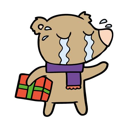 crying bear cartoon chraracter