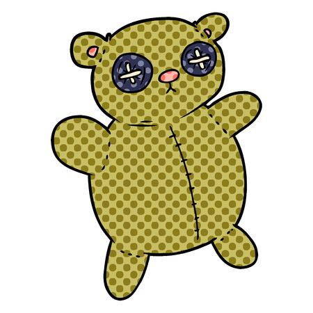old teddy bear cartoon Illustration