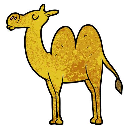 cartoon camel illustration design Ilustração