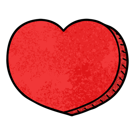 cartoon love heart Иллюстрация