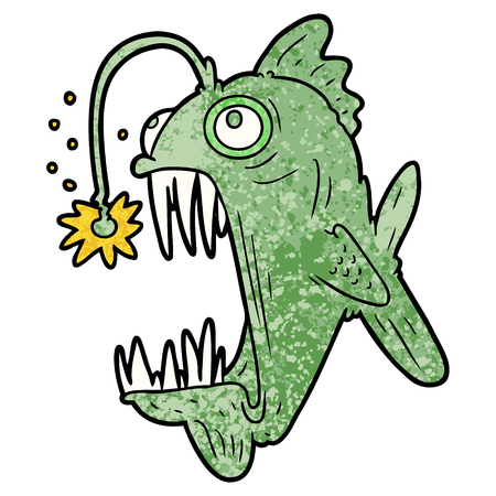 cartoon lantern fish