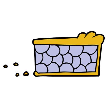Cartoon Pie Slice Standard-Bild - 95754601