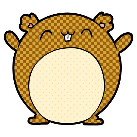 Illustration de hamster dessin animé Jumbo sur fond blanc.