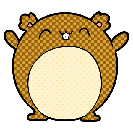 Jumbo cartoon hamster  illustration on white background. Ilustracja