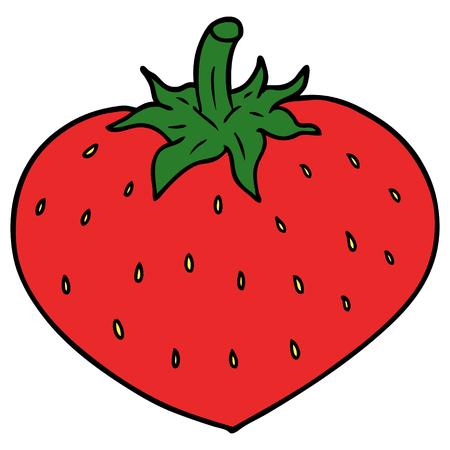 Cartoon strawberry vector illustration Иллюстрация