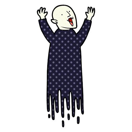 Hand drawn spooky cartoon vampire 向量圖像