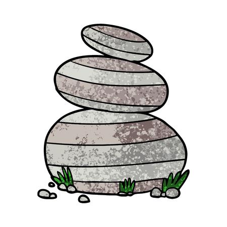 Cartoon große gestapelte Steine ? ? Illustration auf weißem Hintergrund Standard-Bild - 95802786