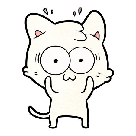 Cartoon surprised cat Illustration