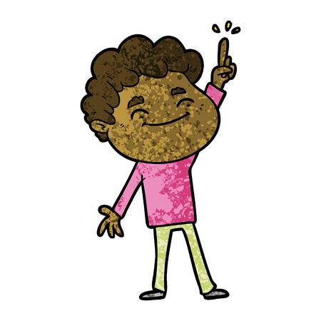 Cartoon freundliche Mann Illustration auf weißem Hintergrund Standard-Bild - 95800881