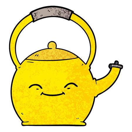 Hand drawn cartoon kettle