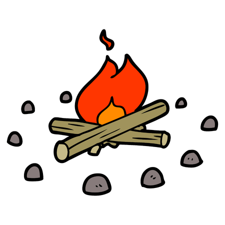 Cartoon campfire