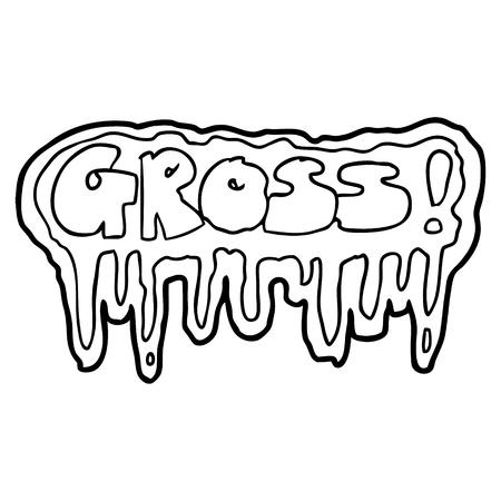 Cartoon gross symbol Ilustração