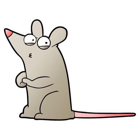 Cartoon suspicious mouse vector illustration