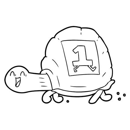 Cartoon Schildkröte Standard-Bild - 95839183