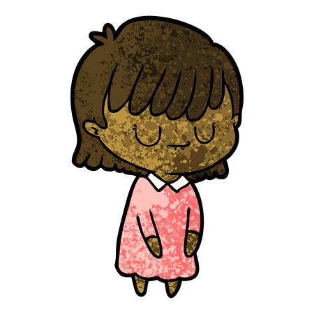 Cartoon woman sleep walking Foto de archivo - 95842563