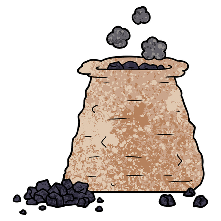Cartoon sack of coal