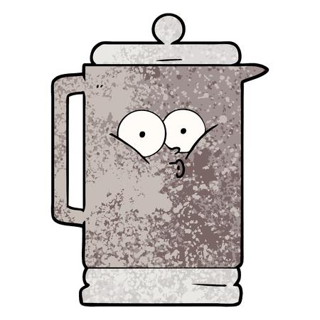 Hand drawn cartoon electric kettle