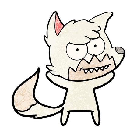 Hand drawn cartoon grinning fox Stock fotó - 95855338