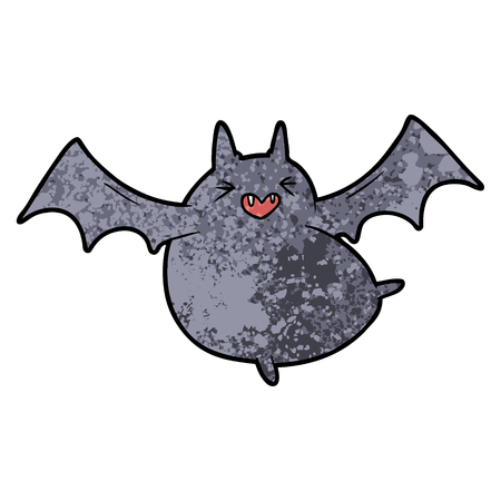 Spooky cartoon bat vector illustration