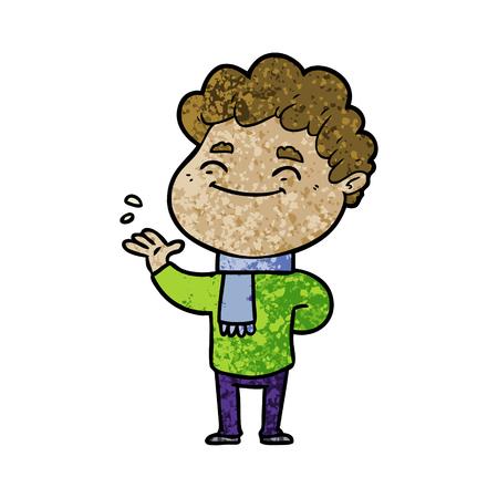 Hand gezeichnete Karikatur freundliche Mann Standard-Bild - 95855348