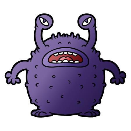 Grumpy cartoon alien Reklamní fotografie - 95844685