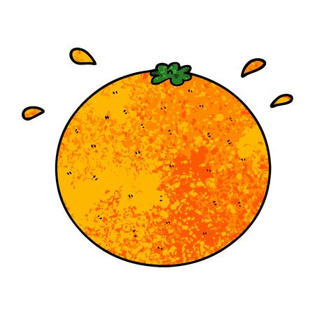 Hand drawn cartoon orange