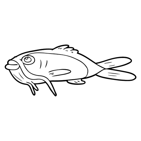 cartoon catfish illustration design