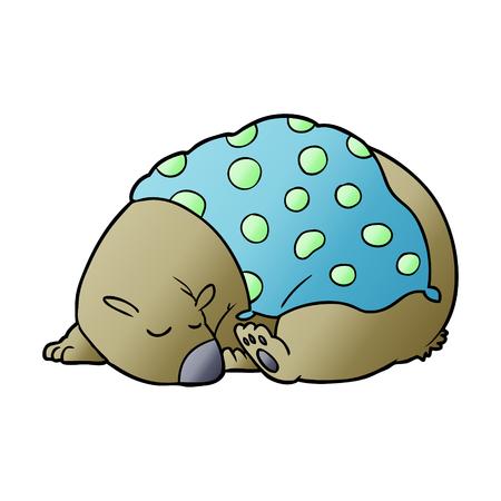 手描き寝クマ漫画キャラクター
