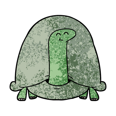 Cartoon tortoise on white background.
