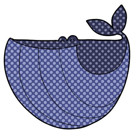 Happy Cartoon Wal auf weißem Hintergrund Standard-Bild - 95817176
