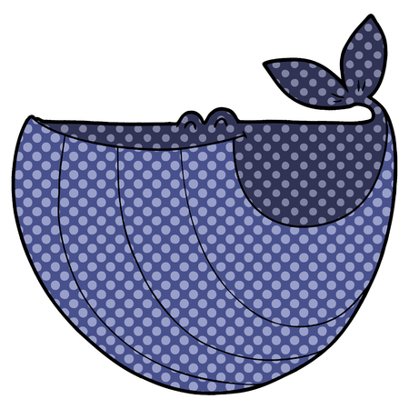 Happy cartoon whale on white background. Illustration