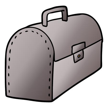Hand drawn cartoon tool box Ilustração