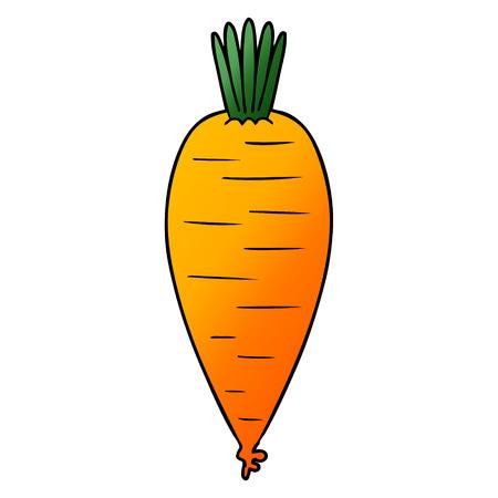 Hand drawn cartoon carrot