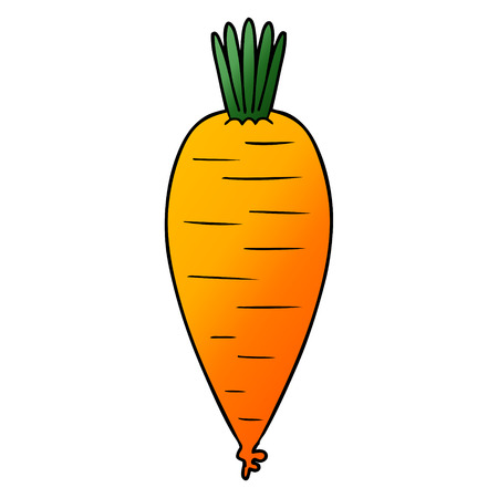 Hand drawn cartoon carrot